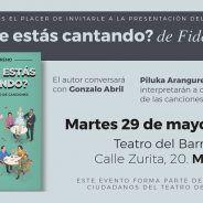 """MARTES CIUDADANOS – Presentación del libro ¿""""QUÉ ME ESTÁS CANTANDO?"""""""