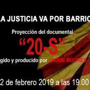 """MARTES CIUDADANOS – Proyección del documental """"20-S"""" de JAUME ROURES"""